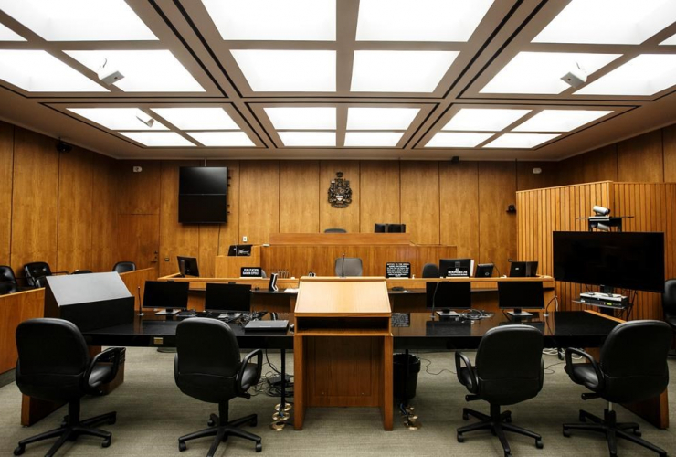 courtroom, Edmonton Law Courts building, Edmonton,