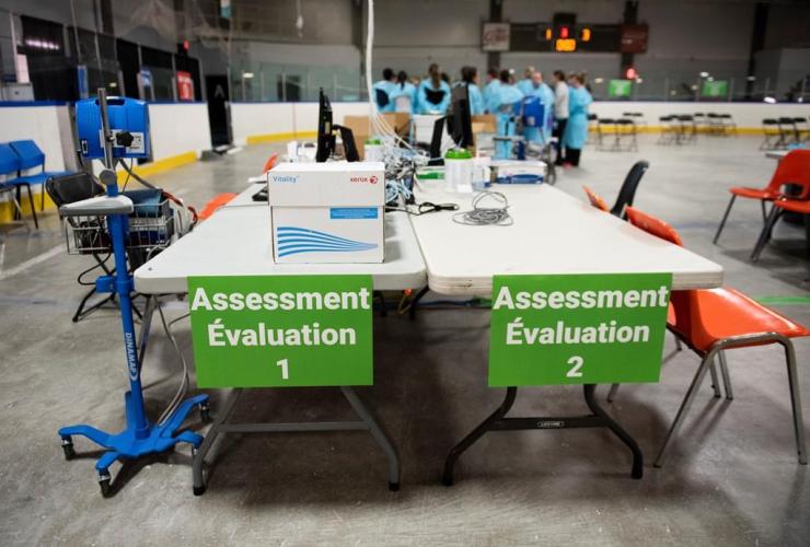 assessment station, Brewer Park Arena,