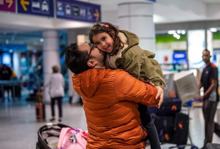 father, daughter, reunited, Air Canada, Canadians passengers, Morocco,