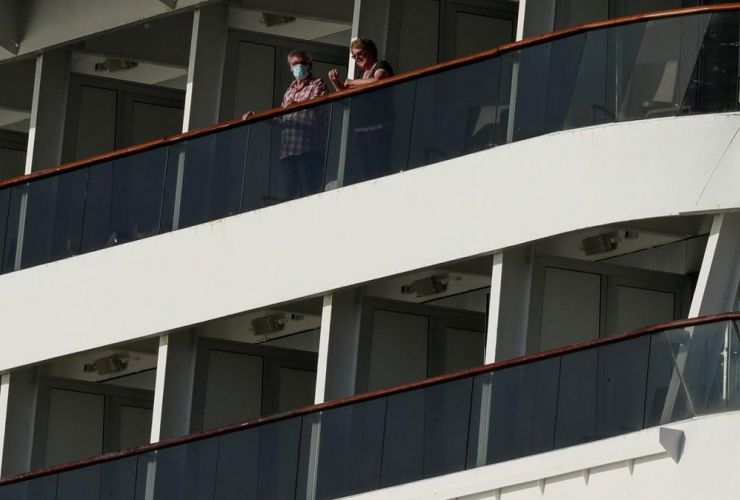 Passengers, Zaandam cruise ship, Panama City,