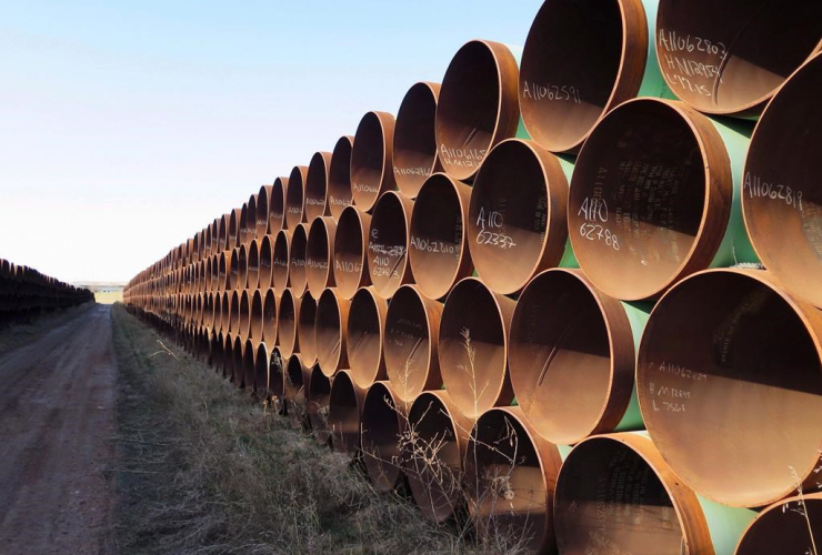 Pipes, Keystone XL pipeline, Gascoyne,