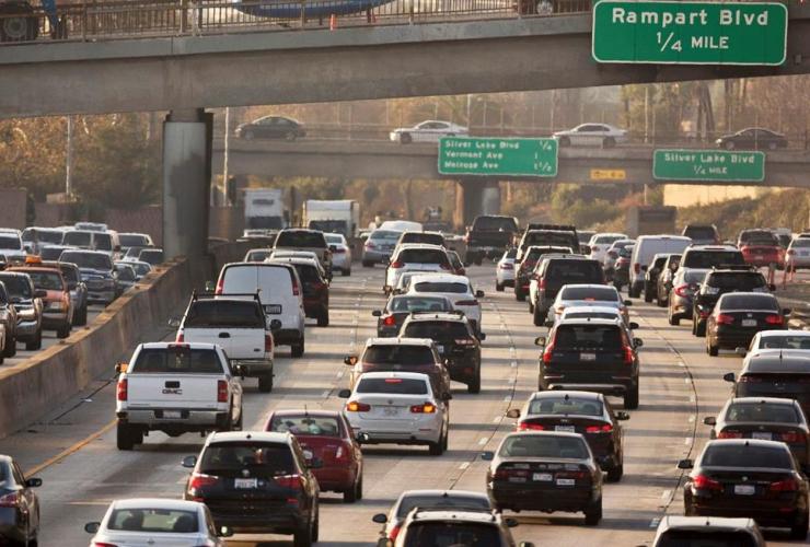 traffic, Hollywood Freeway, Los Angeles,