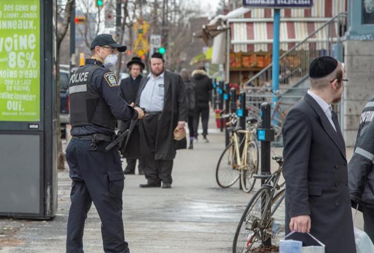 Police, social distancing,