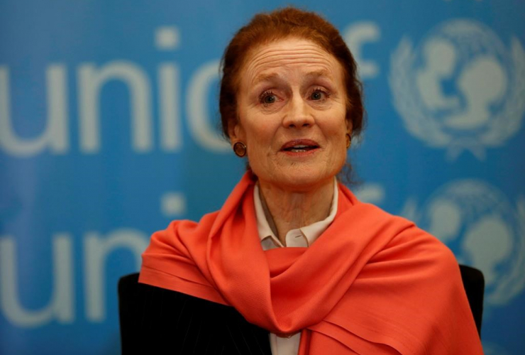 Henrietta Fore, executive director of UNICEF,