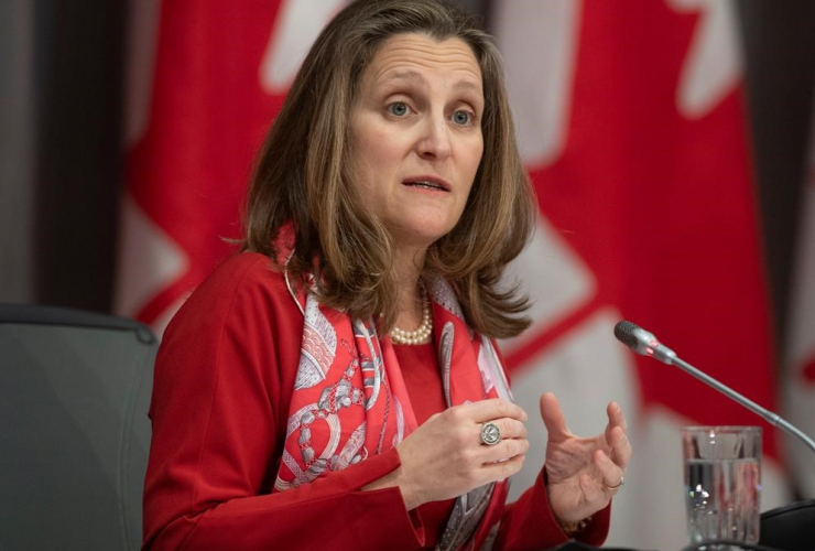 Deputy Prime Minister and Minister of Intergovernmental Affairs Chrystia Freeland,