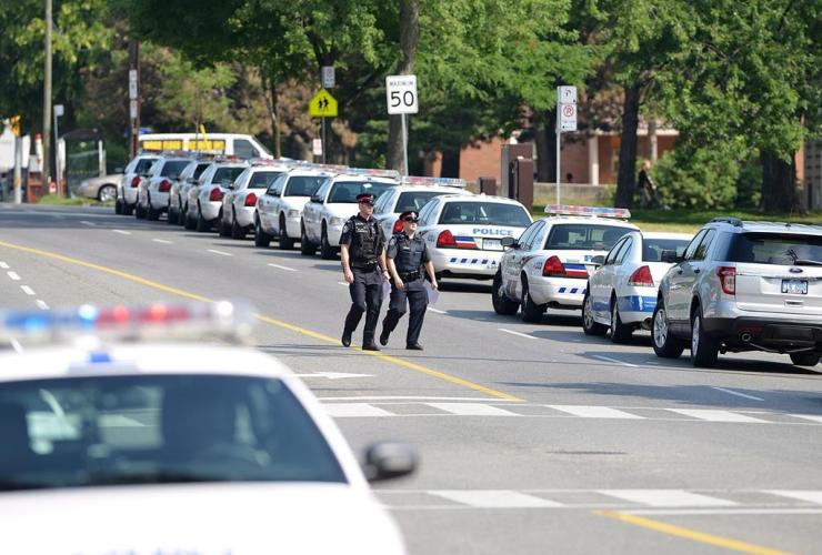 Police cars,