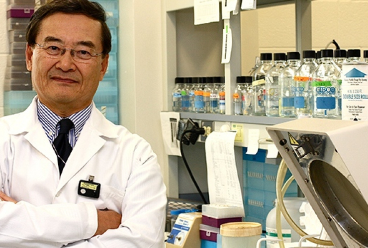Chil-Yong Kang, PhD, professor emeritus, Department of Microbiology and Immunology and his team developed the first and only preventative HIV vaccine and now he's working on a vaccine for COVID-19.