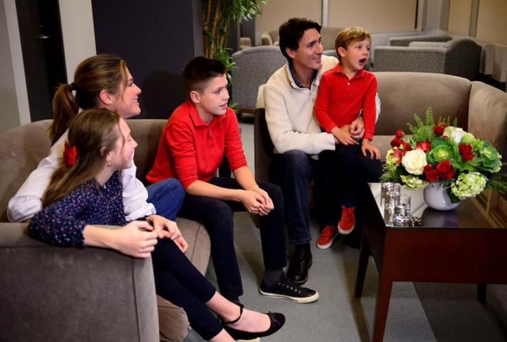 Justin Trudeau, Sophie Gregoire-Trudeau, children, Xavier, Ella-Grace, Hadrien,