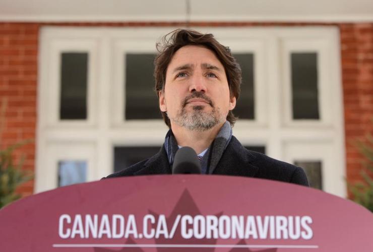 Prime Minister Justin Trudeau, COVID-19 pandemic, Rideau Cottage, Ottawa,