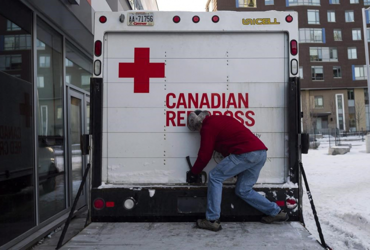Bill Behse, Canadian Red Cross, emergency shelter unit,
