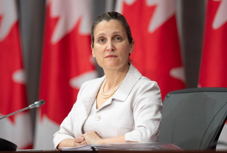 Deputy Prime Minister, Minister of Intergovernmental Affairs, Chrystia Freeland,