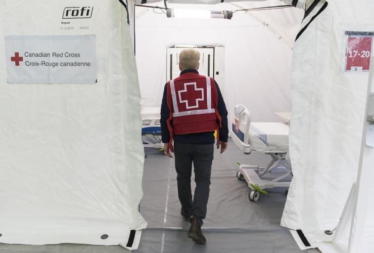 Canadian Red Cross volunteer,