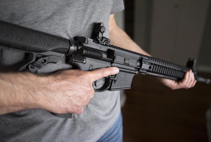 restricted gun licence holder, AR-15,