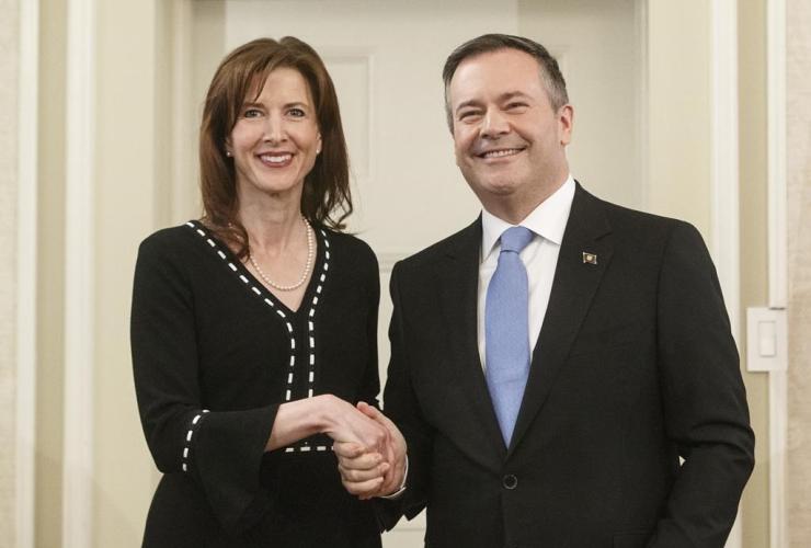 Alberta premier Jason Kenney, Tanya Fir,