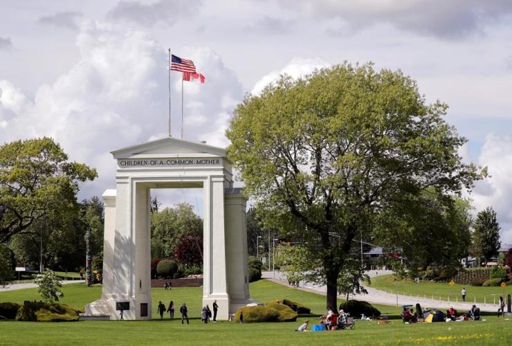 Peace Arch Park, Blaine, Washington,