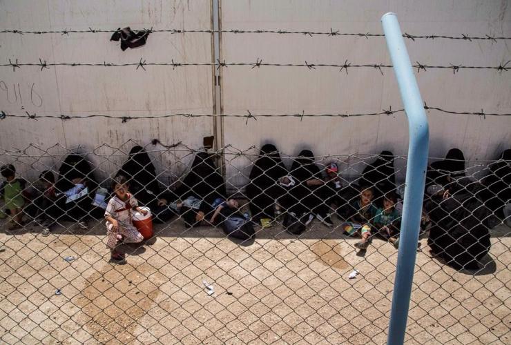 Women, children, al-Hol camp,Hasakeh province, Syria,