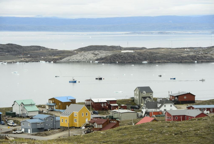 Small boats, Frobisher Bay inlet, Iqaluit,