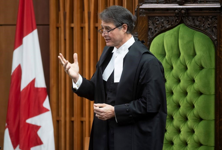 Speaker of the House of Commons Anthony Rota,
