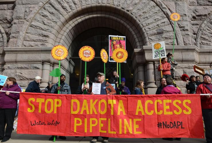 Minneapolis City Hall, protest, Dakota Access Pipeline,