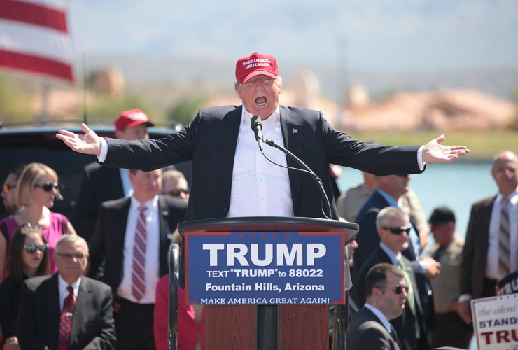 Donald Trump, campaign rally, Fountain Park, Fountain Hills, Arizona,