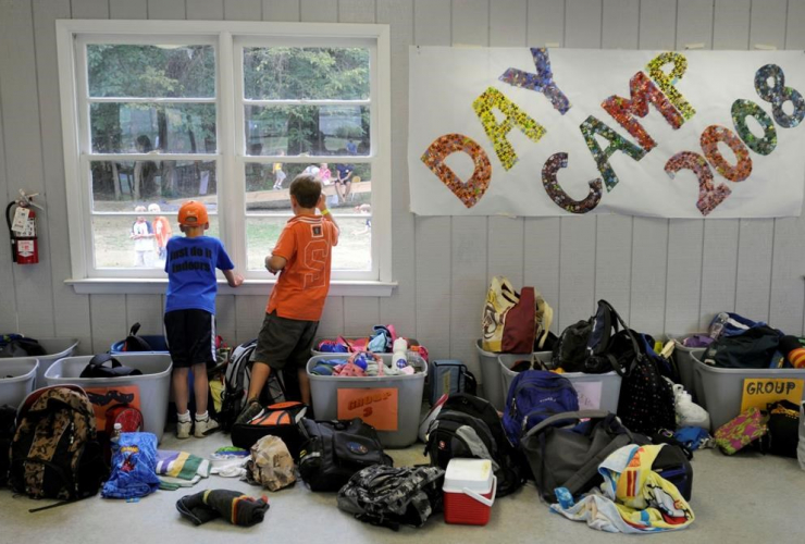 Children, day camp, YMCA Camp Letts,