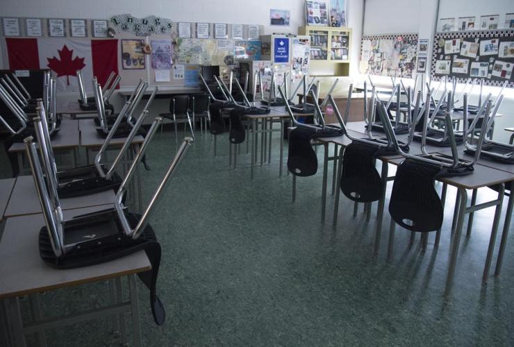 empty classroom, Eric Hamber Secondary school, Vancouver,