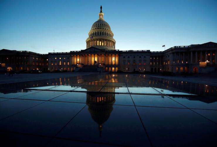 East Front, U.S. Capitol, sunset, Washington,