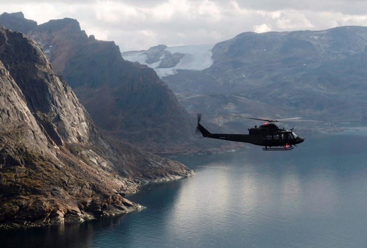 Canadian military, Griffon helicopter, Baffin Island,