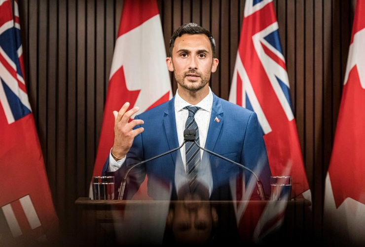 Ontario Minister of Education, Stephen Lecce,