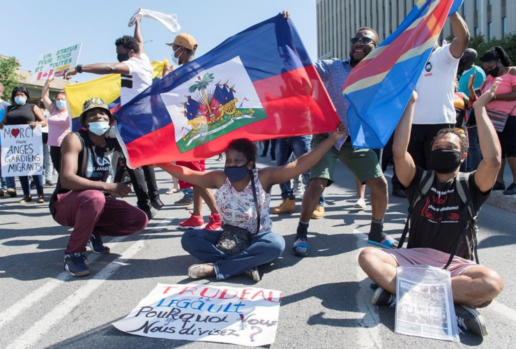 People, protest, Prime Minister Justin Trudeau, constituency office,