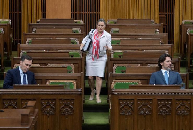 Chrystia Freeland, Bill Morneau, Justin Trudeau,