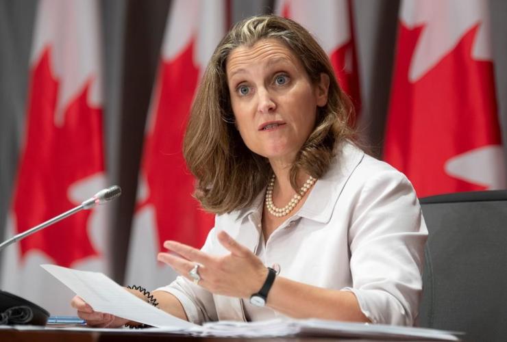 Deputy Prime Minister, Minister of Finance, Chrystia Freeland,