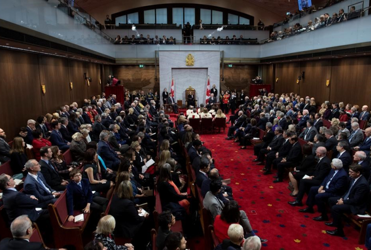 Governor General Julie Payette, Throne Speech, Senate chamber,