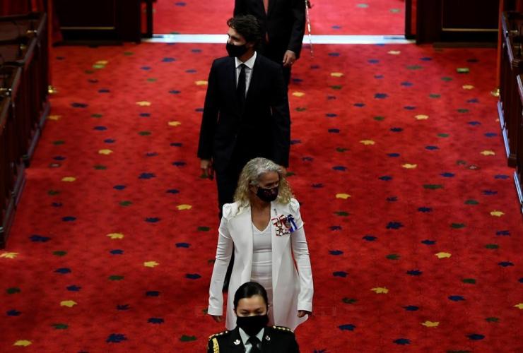 Gov. Gen. Julie Payette, Prime Minister Justin Trudeau,