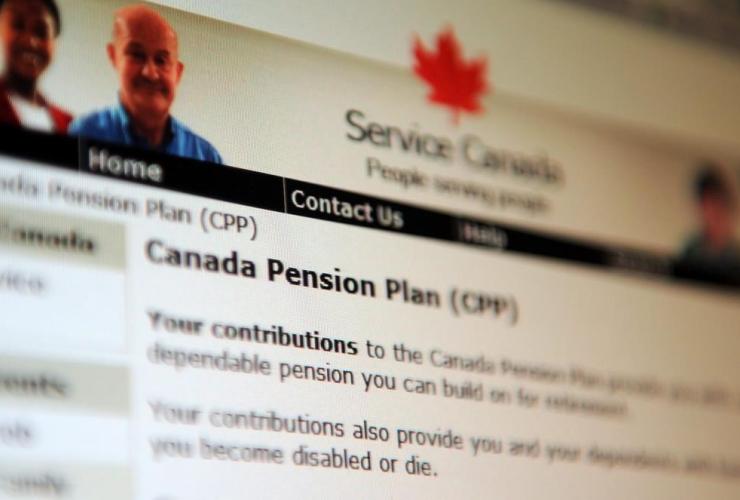 Canada Pension Plan, service Canada website,
