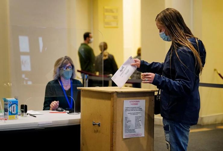 voter, absentee ballot, ballot box,