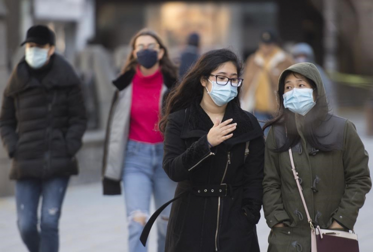 People, face masks, Montreal,