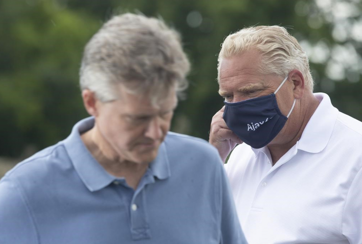 Ontario Premier Doug Ford, Finance Minister Rod Phillips,