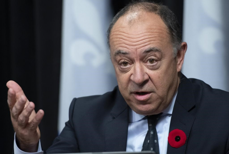 Quebec Health Minister Christian Dube,