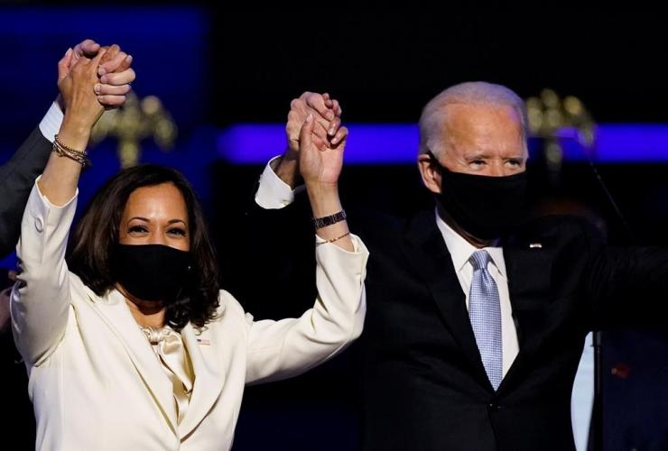 Vice President-elect Kamala Harris, President-elect Joe Biden, Doug Emhoff,