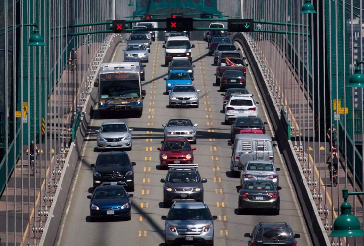 Traffic, Lions Gate Bridge,