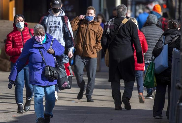 Pedestrians, Spring Garden Road, Halifax,