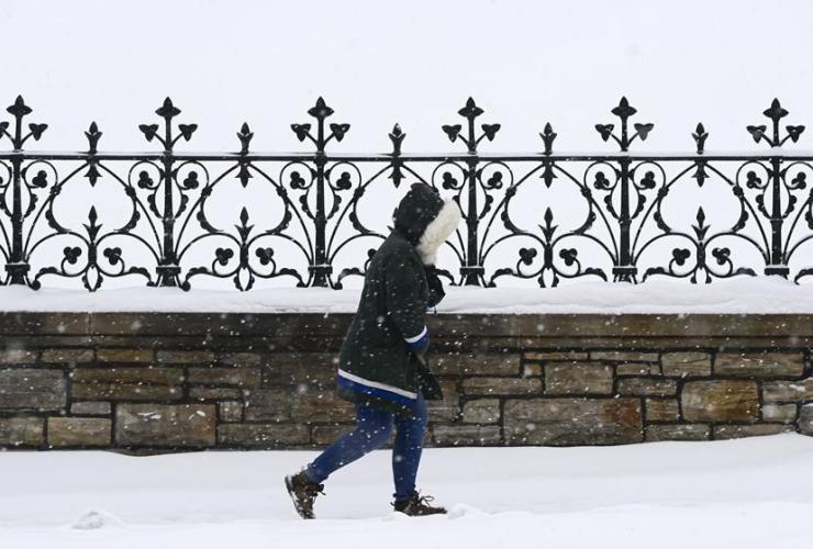 pedestrian, snow, Ottawa,