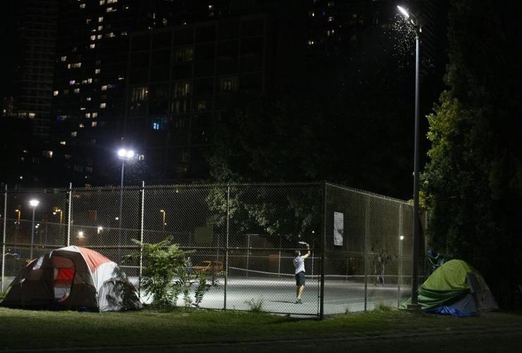 homeless encampment,