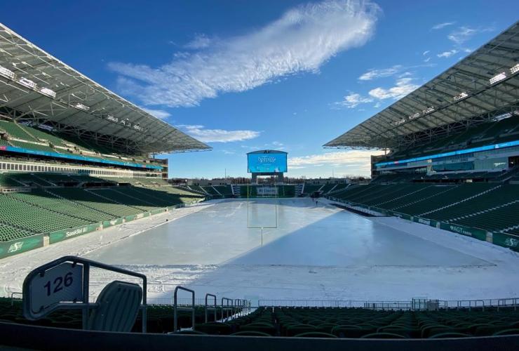 skating rink, Mosaic Stadium, Regina,