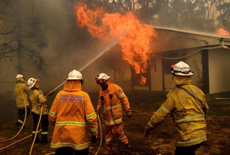 firefighters, Morton Fire,