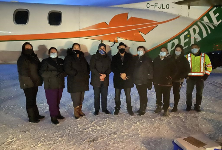 Moderna vaccine, Norway House Cree Nation, Manitoba,