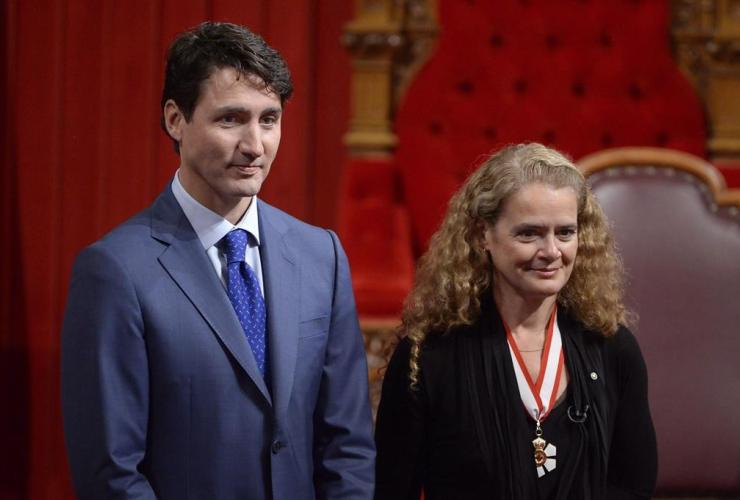 Julie Payette, Justin Trudeau,