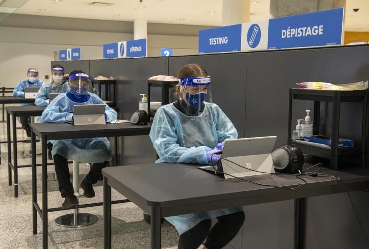COVID-19 testing centre, Pearson Airport,