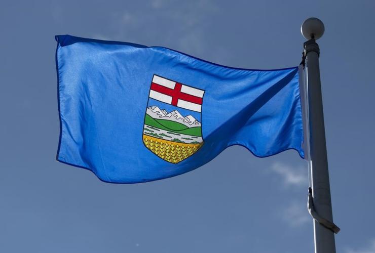 Alberta's provincial flag,